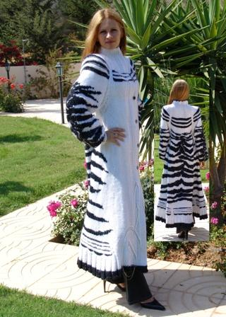 "[:ru]Пальто «Зебра»[:en]Knitted coat ""Zebra"""