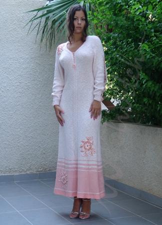 вязаное платье спицами, платья вязаные, схемы вязания