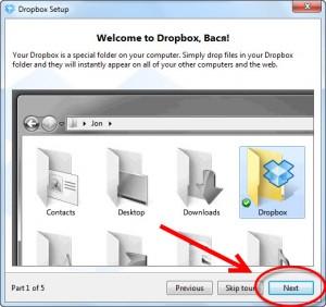 Использование DropBox от Зои Вулвич, первый шаг тура