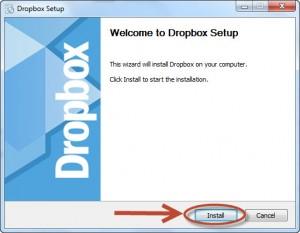 Использование DropBox от Зои Вулвич, начало инсталяции