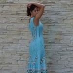 Приз для конкурса 2013 года на Woolwitch эксклюзивное вязание, платье от Зои Вулвич 'Желание', вид со спины